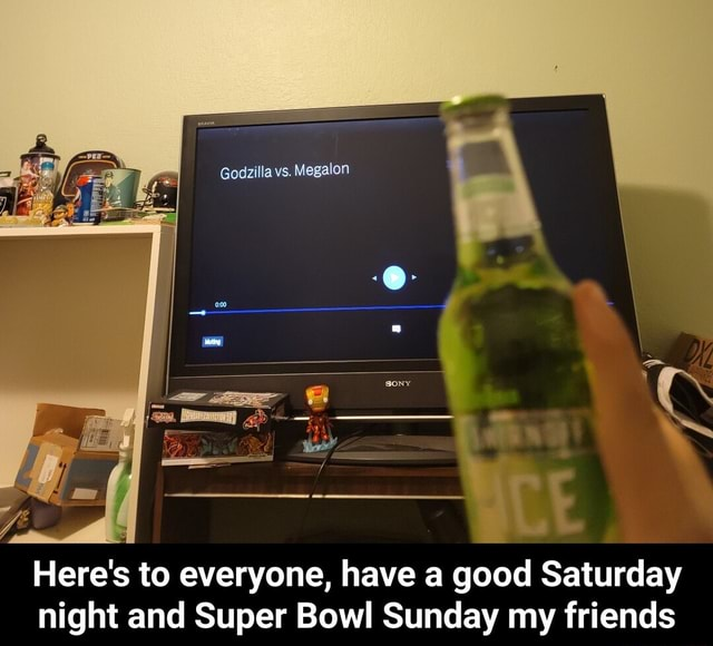 Here's to everyone, have a good Saturday night and Super Bowl Sunday my friends  Here's to everyone, have a good Saturday night and Super Bowl Sunday my friends memes