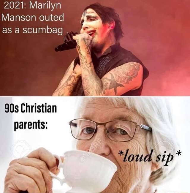 2021 Marilyn Manson outed as a scumbag Christian parents memes