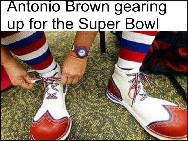 Antonio Brown gearing up for the Super Bowl meme