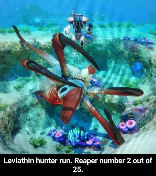 Leviathin hunter run. Reaper number 2 out of 25. Leviathin hunter run. Reaper number 2 out of 25 meme
