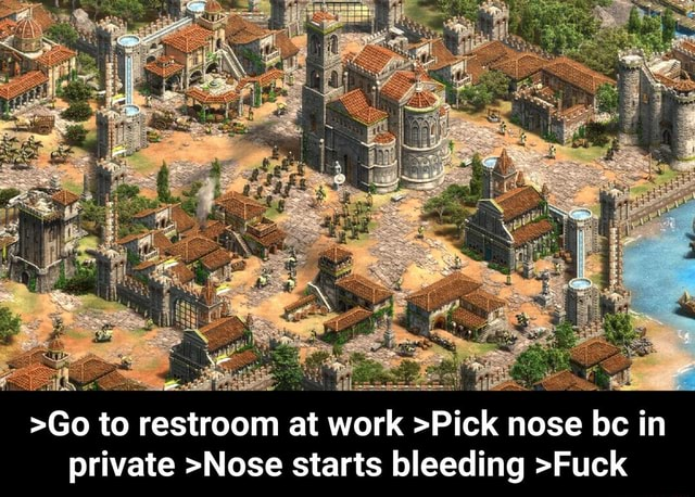 Neo Go to restroom at work Pick nose bc in private Nose starts bleeding Fuck Go to restroom at work Pick nose bc in private Nose starts bleeding Fuck meme