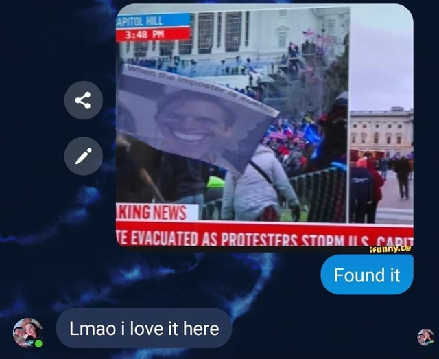 TE EVACUATED AS PROTESTFRS Found it Lmao i love it here meme