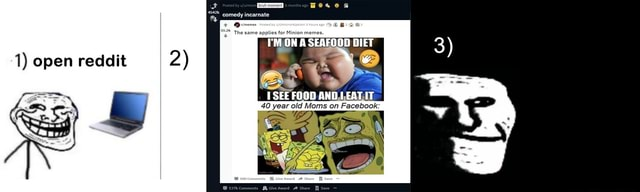 1 open reddit 2 Posted by bruh moment months ago 4542k comedy incarnate memes The same applies for Minion memes. by GH ON SEAFOOD DIET SEE FOOD ANDI EAT IT 40 year old Moms on Facebook