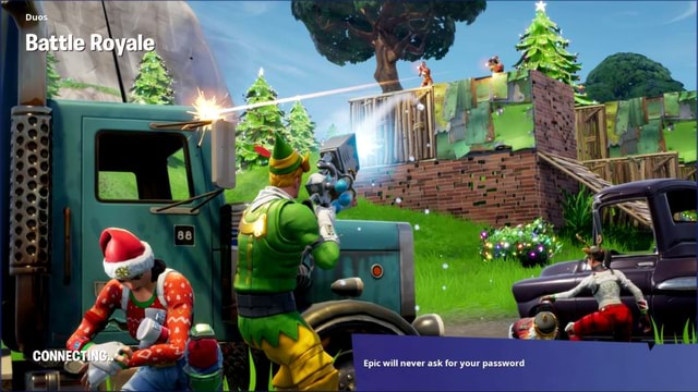 Duos Battle Royale CONNECTING * Epic will never ask for your password memes