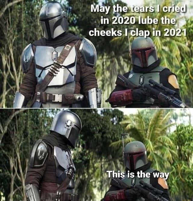 May the Tears cried in 2020 lube the cheeks clap in 2021 This is the way memes