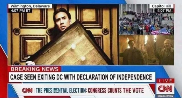 Wilmington, Delaware BREAKING NEWS SEEN DECLANATION OF INDEPENDENCE I I THE VOTE I memes