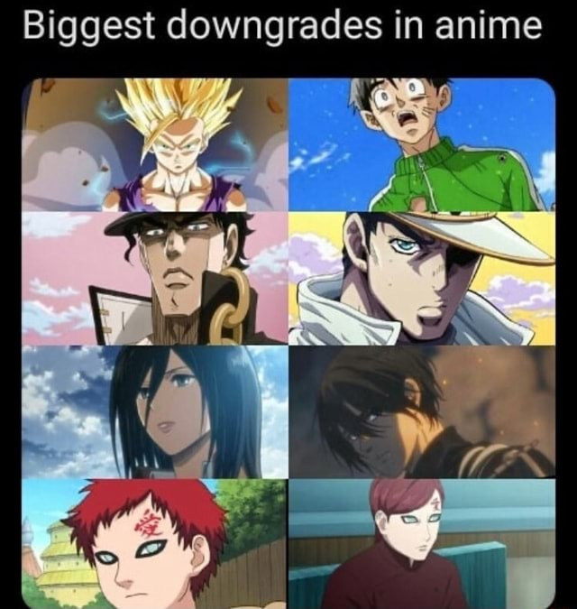 Biggest downgrades in anime memes