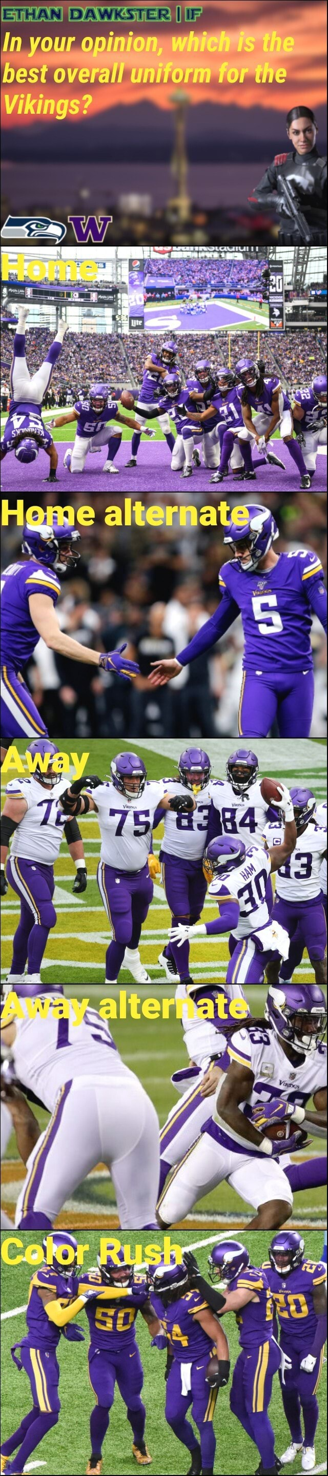 In your opinion best overall uniform for the Vikings memes