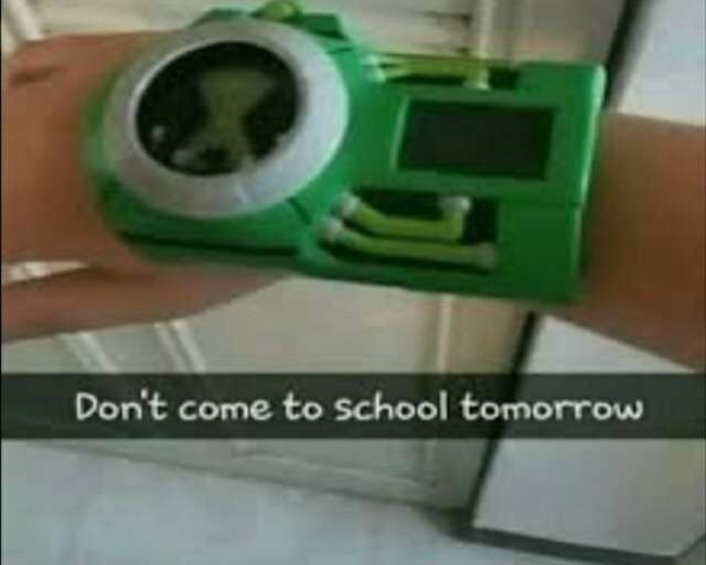 By Do not come to school tomorrow meme