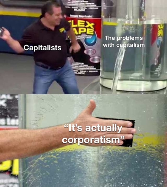 The problems with capitalism LE Capitalists It's actually corporatism memes