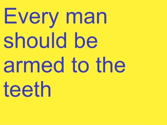 Every man should be armed to the teeth memes