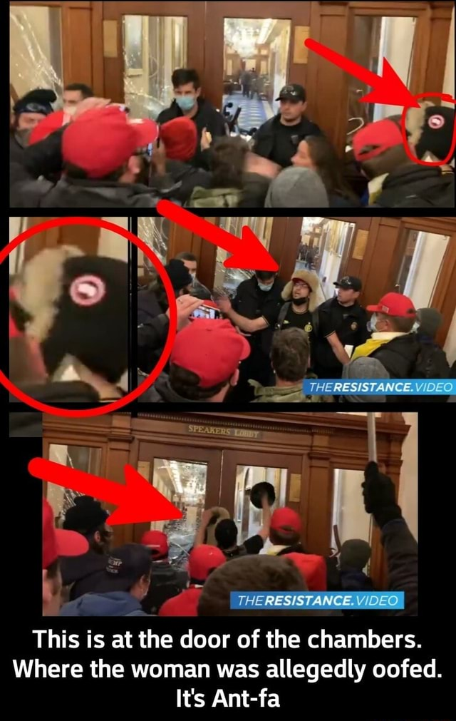 THE RESISTANCE. This is at the door of the chambers. Where the woman was allegedly oofed. It's Ant fa This is at the door of the chambers. Where the woman was allegedly oofed. It's Ant fa meme
