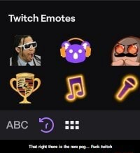 'Twitch Emotes and and BP ABC That right there is the new pog Fuck twitch meme