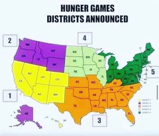 HUNGER GAMES DISTRICTS ANNOUNCED meme
