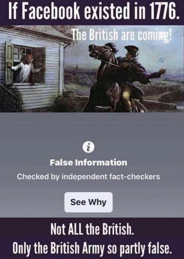 Racebook existed SS False information Checked by independent fact checkers See Why ALL the Only the British Army so partly false meme