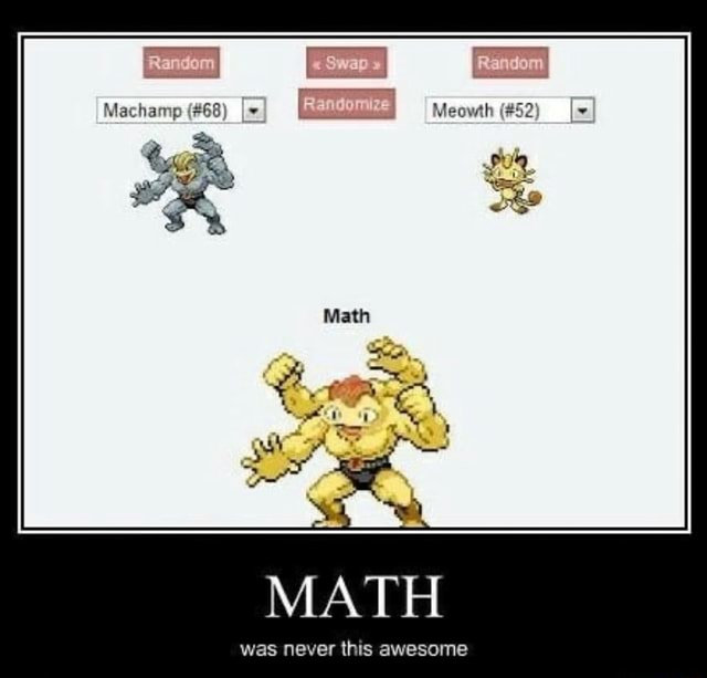 Machamp 68 MATH was never this awesome meme