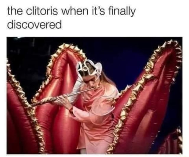 The clitoris when it's finally discovered memes