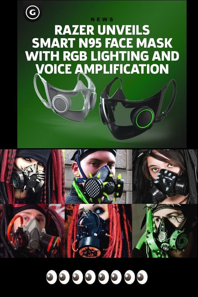 RAZER UNVEILS SMART FACE MASK WITH RGB LIGHTING AND VOICE AMPLIFICATION ES 99999999 memes