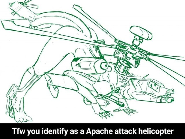 Tfw you identify as a Apache attack helicopter Tfw you identify as a Apache attack helicopter meme