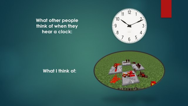 What other people think of when they hear a clock What think of BE meme