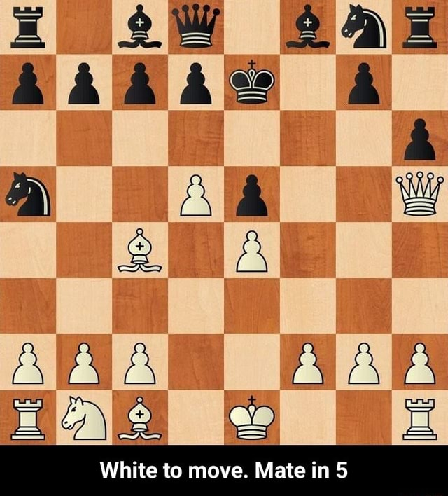 AIAIA White to move. Mate in 5 White to move. Mate in 5 memes