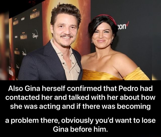 Also Gina herself confirmed that Pedro had contacted her and talked with her about how she was acting and if there was becoming a problem there, obviously you'd want to lose Gina before him. a problem there, obviously you'd want to lose Gina before him memes