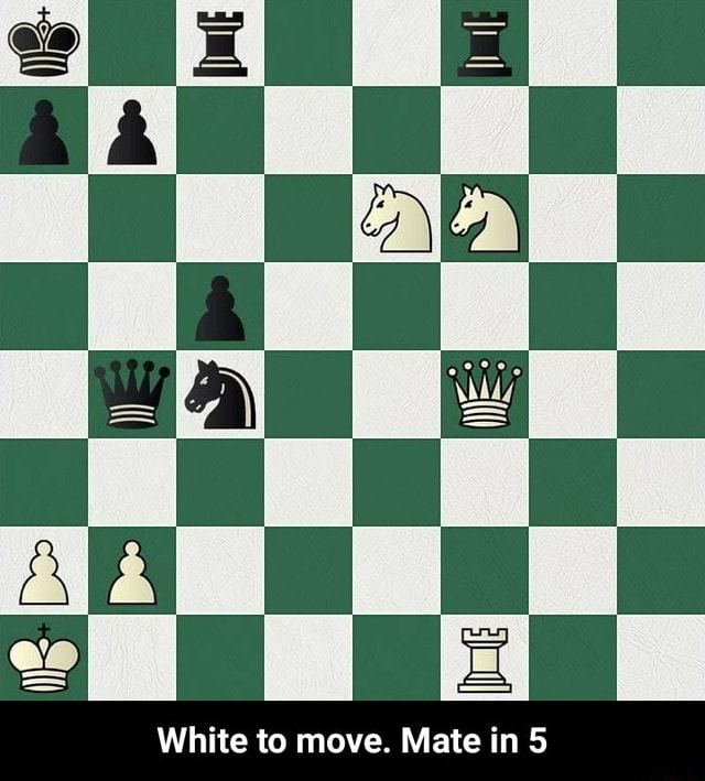 Ls White to move. Mate in White to move. Mate in 5 meme