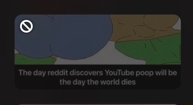 The day reddit discovers YouTube poop will be the day the world dies meme