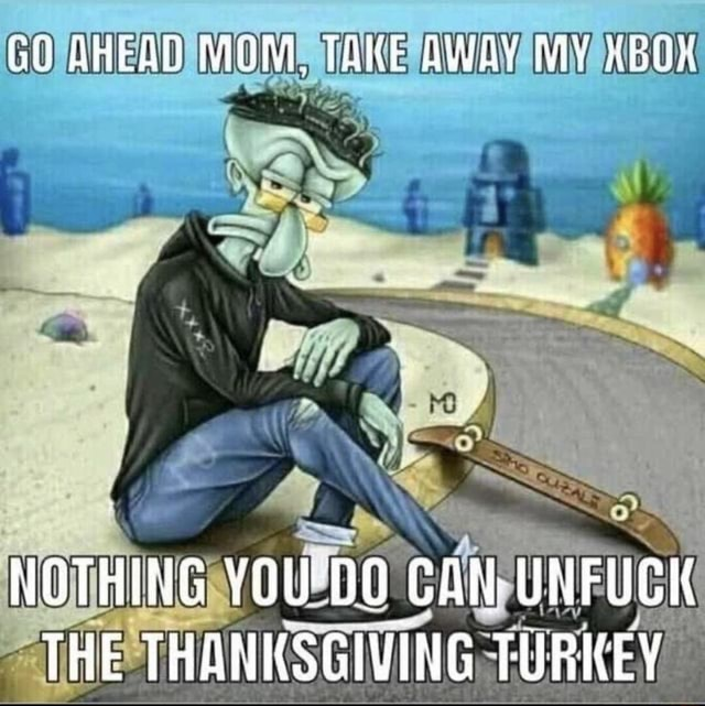 GO AHEAD MOM, TAKE AWAY MY OK NOTHING YOU'DO CAN UNFUCK THE THANKSGIVING TURKEY memes