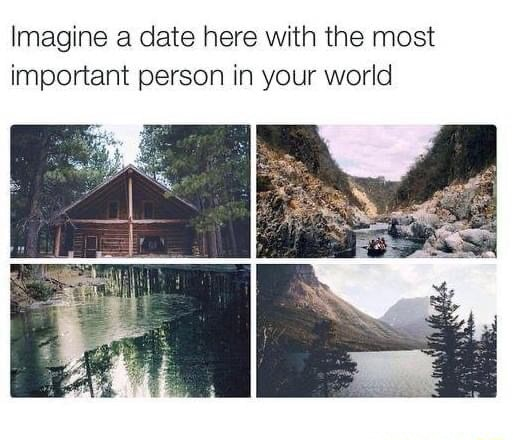 Imagine a date here with the most important person in your world memes