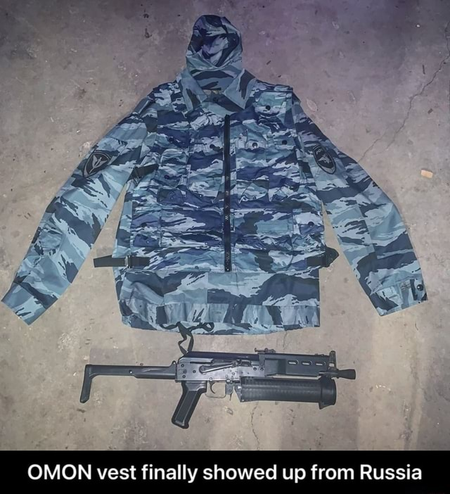 OMON vest finally showed up from Russia  OMON vest finally showed up from Russia memes