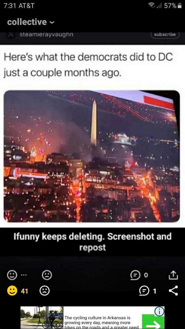 Collective sleamierayvaughn all Here's what the democrats did to DC just a couple months ago. Me funny keeps deleting. Screenshot and repost a memes