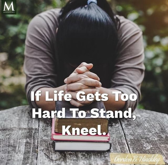 If Life Gets Too Hard To Stand, Kneel memes