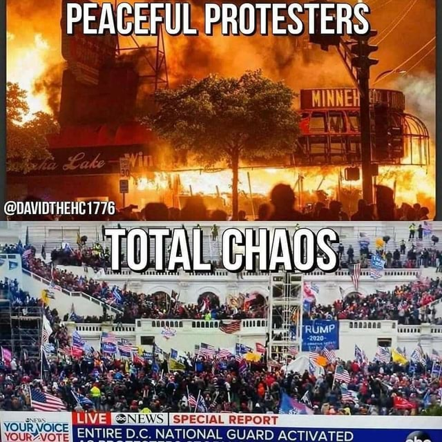 SPECIAL REPORT ENTIRE D.C. NATIONAL GUARD ACTIVATED PEAGEFUL PROTESTERS. DAVIDTHEHC1776 VOURAVOTE memes