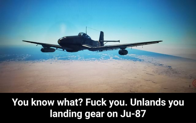 You know what Fuck you. Unlands you landing gear on Ju 87  You know what Fuck you. Unlands you landing gear on Ju 87 memes