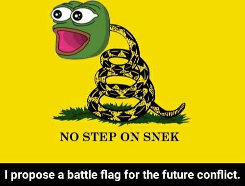 NO STEP ON SNEK propose a battle flag for the future conflict. I propose a battle flag for the future conflict meme