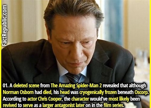 From revealed that although According to actor Chris Cooper, the character would've most likely been revived to serve as a larger antagonist later on in the film series memes