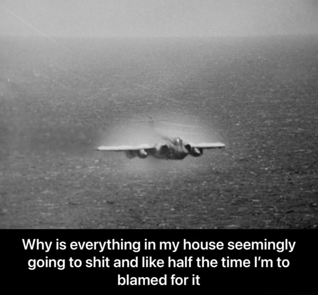 Why is everything in my house seemingly going to shit and like half the time I'm to blamed for it  Why is everything in my house seemingly going to shit and like half the time I'm to blamed for it memes