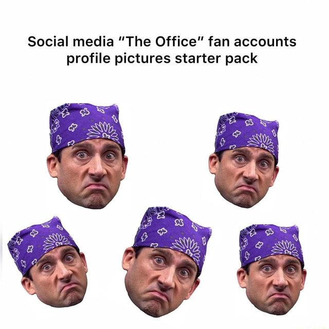 Social media The Office fan accounts profile pictures starter pack memes
