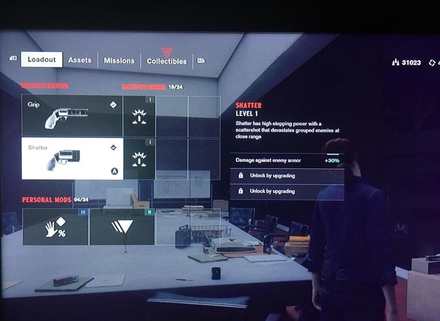 Assets Missions Collectibles wy 31023 SHATTER LEVEL 1 Shatler Shatter has high stopping power with a scattershot that devastates grouped enemies at close range Damage against enemy armor Unlock by Unlock by upgrading Ne meme