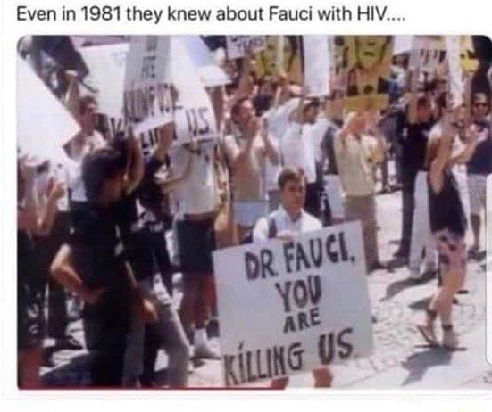Even in 1981 they knew about Fauci with HIV memes