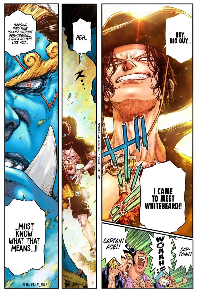 BARGING INTO THIS ISLANO WITHOUT PERMISSION EVEN ROOKIE LIKE YOU AT TO MEET WHITEBEARD  RUVIAN meme