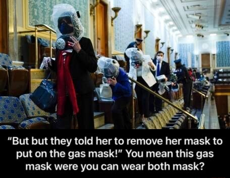 But but they told her to remove her mask to put on the gas mask You mean this gas mask were you can wear both mask But but they told her to remove her mask to put on the gas mask You mean this gas mask were you can wear both mask memes