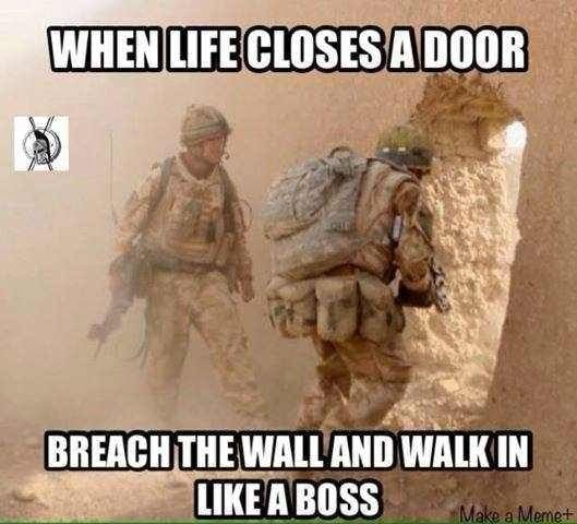 ANHEN LIFE CLOSES DGOR BREAGH THE WALL AND WALK IN LIKE BOSS memes