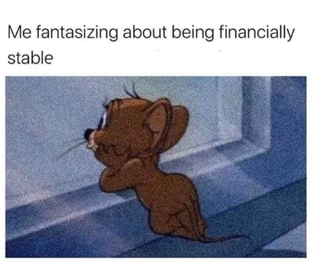 Me fantasizing about being financially stable memes