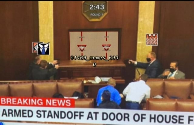 BREAKING NEWS ROUND ARMED STANDOFF AT AT DOOR OF memes