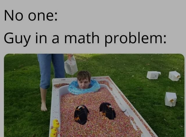 No one Guy in math problem memes