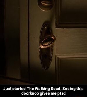 Just started The Walking Dead. Seeing this doorknob gives me ptsd Just started The Walking Dead. Seeing this doorknob gives me ptsd meme