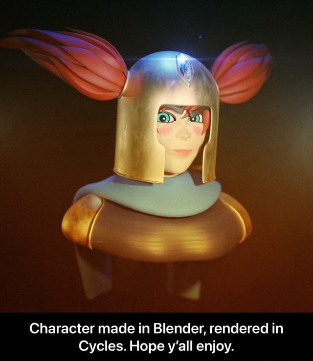 Character made in Blender, rendered in Cycles. Hope y'all enjoy.  Character made in Blender, rendered in Cycles. Hope y'all enjoy memes