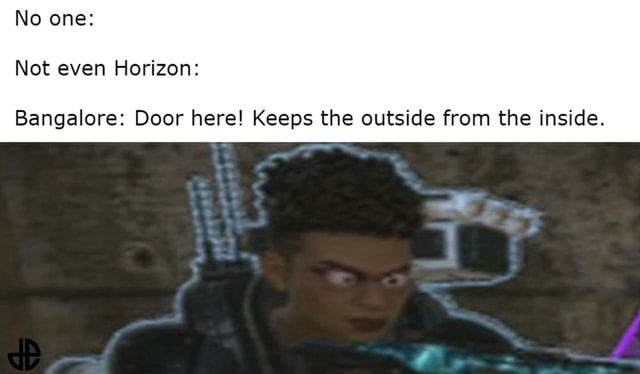 No one Not even Horizon Bangalore Door here Keeps the outside from the inside memes